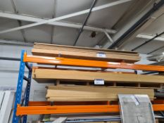 Nine Sheets of OSB, approx. 2440mm x 1220mm x 18mm thickness, as set out on one tier of rack
