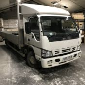 Isuzu NQR-7 Rigid Body Dropside Lorry, platform si