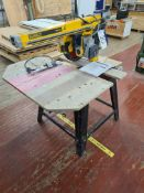 DeWalt DW721 RADIAL ARM CROSS CUT SAW, serial no.