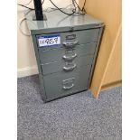 Bisley Four Drawer Storage Cabinet