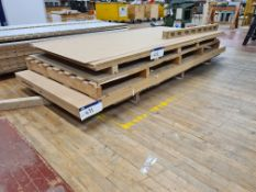 Five Boards of UL2 MDF, approx. 3050mm x 1220mm x 18mm thickness, as set out on pallet