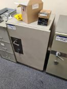 Chubb Steel Security Safe, serial no. M2 3H 89 004A, approx. 650mm x 620mm x 1080mm high, with keys