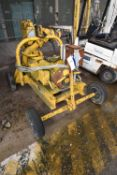 Sykes Twin Axle Drawbar Trailer Mounted Centrifugal Pump, serial no. 8/825600/A, approx. 6in. dia.