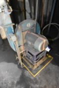 Steel Cased Centrifugal Fan, approx. 850mm dia., with electric motor drivePlease read the