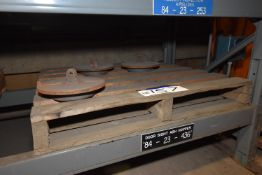 Three Cast Iron Door Site Hoppers (84-23-436) MS-MP007 (please note this lot is part of