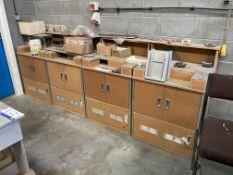 Four MDF Cupboard Units