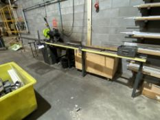 BEW Downstroking Cut Off Saw, c/w cut to length feed and rollers take off table