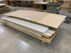 Various Sheets of Veneered MDF & Chipboard on 4 Pallets