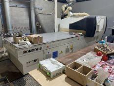 Morbidelli Universal 3615 CNC Boring & Routing Centre, serial no. AL/00/9565, year of manufacture