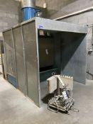 DCS Galvanised Steel Wet Back Powder Coating Spray Booth, 2m x 2m