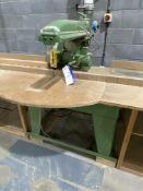 Wadkin Bursgreen BRA Radial Arm Crosscut Saw, serial no. A-65166 c/w wooden feed and take off