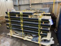 Two Interroll 590mm wide (on belt) FLAT BELT CONVEYORS, year of manufacture 2016, (unused), each