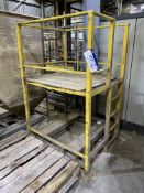 Fabricated Steel Access Platform, approx. 1.22m x 1020mm x 1.1m platform height, with fork truck
