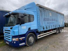Scania P310 6x2 CURTAINSIDE TRUCK, registration no. KX56 CWU, date first registered 23/11/06, 1,