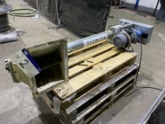 Astwell Galvanised Steel Cased 115mm dia. Auger Conveyor, approx. 1.7m long, with geared electric