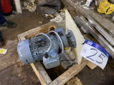 Nord100LH4TF Electric Motor, 2.2kW, 1445rpm, with gear drive understood to be unused (known to have