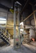 Belt & Bucket Elevator, 260mm wide on leg section, approx. 4.5m centres high, with electric motor