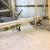 Guttridge 150mm dia. Screw Conveyor, serial no. 0573389-1-1, approx. 6.6m long, with geared electric