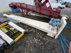 Guttridge 250MM DIA. SCREW CONVEYOR, approx. 8.25m long, with geared electric motor drive and one