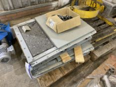Two Cimbria Galvanised Steel Cased Electro-Pneumatic Slides, each 540mm x 250mm opening,
