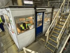 Portable Jack Leg Site Office, approx. 4.9m x 2.5m, with fitted office furniture contents (excluding