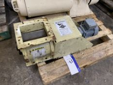 185mm x 150mm Geared Motor Driven Rotary Air Seal, with stainless steel rotor(lot located at Gold