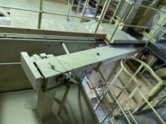 300mm dia. Screw Conveyor, approx. 4.3m long, with geared electric motor and one discharge outlet (
