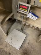 CSG LP7510A Load Cell Scale, approx. 400mm x 400mm on brushed stainless steel platform (lot