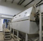 Tong & Peal Washer, drum approx. 70cm dia., 4m lon