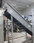 Incline Conveyor, with hopper and front end, appro