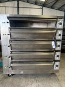 Tagliavin Five Deck Oven, lift out charge - £50