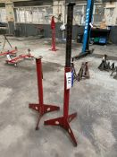 Two Hydraulic Transmission Stands