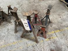 Five Assorted Axle Stands