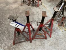 Four 4000kg Axle Stands