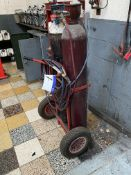 Oxy-Acetylene Bottle Trolley, with Cutting torch, hoses and regulators (bottles excluded)