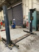Tecalemit Twintec MK5 2.5ton TWO POST VEHICLE LIFT, serial no. 13400188