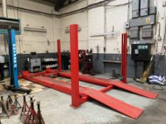 Space SQ406E 4000kg FOUR POST VEHICLE RAMP/ LIFT, serial no. 102057S3, year of manufacture 2016,