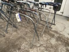 Three Steel Framed Collapsible Panel Stands