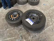 Five Various Tyres with Steel Rims