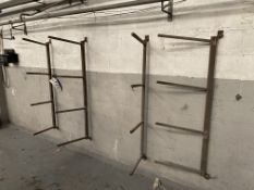 Three Steel Wall Mounted Stock Racks