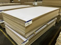 Approx. 23 Sheets of White Matt Two Faced MDF, each sheet approx. 2400mm x 1200mm x 18mm, as set out