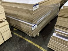 Approx. 26 Sheets of White Matt Two Faced MDF, each sheet approx. 2400mm x 1200mm x 18mm, as set out