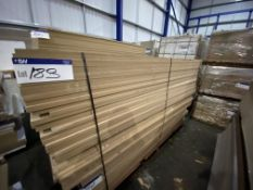 Approx. 25 Sheets of MDF, each sheet approx. 2400mm x 1200mm x mainly 25mm, as set out in one stack