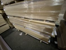 Approx. 25 Sheets of White Matt One Faced MDF, each sheet approx. 2400mm x 1200mm x 18mm, as set out
