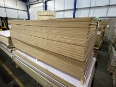 Approx. 50 Sheets of White Gloss One Faced MDF, each sheet approx. 2400mm x 1200mm x 18mm, as set
