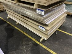 Approx. 26 Sheets of White Matt One Faced MDF, each sheet approx. 2400mm x 1200mm x 18mm, as set out