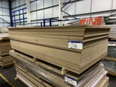 Approx. 34 Sheets of White Matt One Faced MDF, each sheet approx. 2400mm x 1200mm x 18mm, as set out