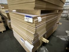 Approx. 33 Sheets of White Gloss One Faced MDF, each sheet approx. 2400mm x 1200mm x 18mm, as set