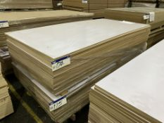 Approx. 24 Sheets of White Matt Two Faced MDF, each sheet approx. 2400mm x 1200mm x 18mm, as set out