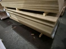 Approx. 30 Sheets of Grey Gloss Two Faced MDF, each sheet approx. 2400mm x 1200mm x 18mm, as set out